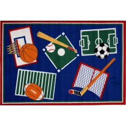 "LA Fun Rugs BBB-001 39""x58"" Sports A Rama Fun Time Collection"