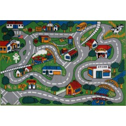 LA Fun Rugs FT-003 Fun Time Collection Country Fun