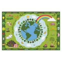 LA Fun Rugs FT-101 Go Green Fun Time Collection