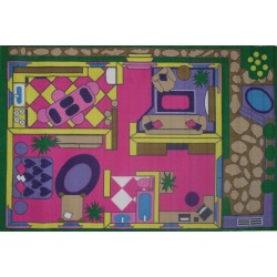 "LA Fun Rugs FT-057 Dollhouse Fun Time Collection - 51""x78"""