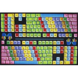 LA Fun Rugs FT-100 Keyboard Fun Time Collection