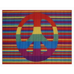 LA Fun Rugs FT-105 Groovy Peace Fun Time Collection