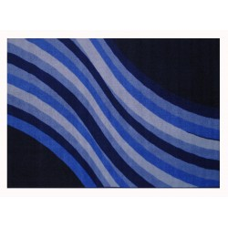 LA Fun Rugs FT-107 Wacky Blue Wave Fun Time Collection