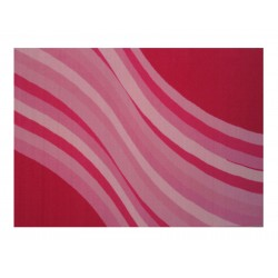 LA Fun Rugs FT-115 Wacky Pink Wave Fun Time Collection