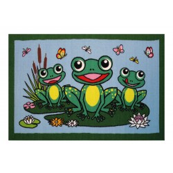 LA Fun Rugs FT-116 Frogs Fun Time Collection