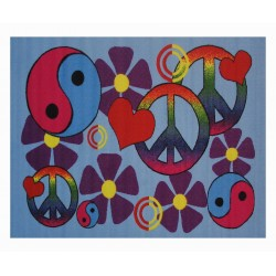 LA Fun Rugs FT-118 Lovely Peace Fun Time Collection