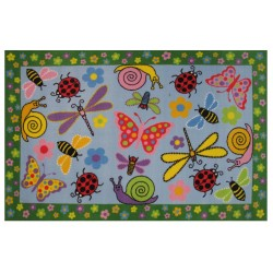 "LA Fun Rugs FT-119 Exotic Creatures Fun Time Collection - 39""x58"""