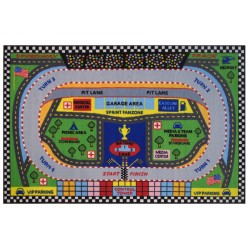 LA Fun Rugs FT-120 Speedway Fun Time Collection