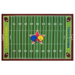 "LA Fun Rugs FT-121 Football Field Fun Time Collection - 39"" x 58"""