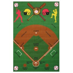 "LA Fun Rugs FT-122 Baseball Field Fun Time Collection - 39"" x 58"""