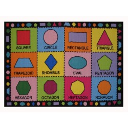 LA Fun Rugs FT-123 Shapes Fun Time Collection