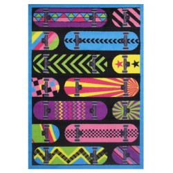 LA Fun Rugs FT-71 Gnarly Boards Fun Time Collection