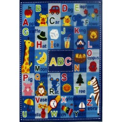 """LA Fun Rugs FT-95 Letters & Names Fun Time Collection - 39"""" x 58"""""""