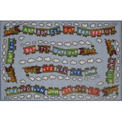"""LA Fun Rugs FT-96 Edu Train Fun Time Collection - 39"""" x 58"""""""