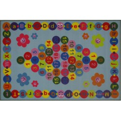 LA Fun Rugs FT-97 Happy Learning Fun Time Collection