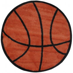 "LA Fun Rugs FTS-004 Basketball Fun Time Shape Collection - 39"" RD"