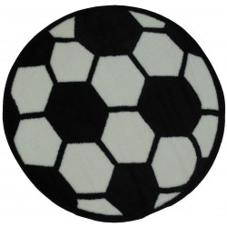 """LA Fun Rugs FTS-007 Soccerball Fun Time Shape Collection - 39"""" RD"""
