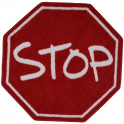 """LA Fun Rugs FTS-029 Stop Sign Fun Time Shape Collection - 39"""" RD"""