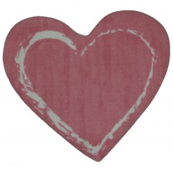"""LA Fun Rugs FTS-055 Pink Heart Fun Time Shape Collection - 35"""" x 39"""""""