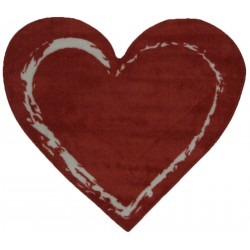 """LA Fun Rugs FTS-057 Red Heart Fun Time Shape Collection - 35"""" x 39"""""""