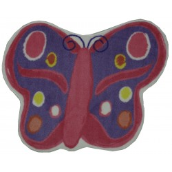 """LA Fun Rugs FTS-064 Butterfly Fun Time Shape Collection - 35"""" x 39"""""""