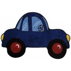 "LA Fun Rugs FTS-103 Blue Car Fun Time Shape Collection - 31"" x 47"""