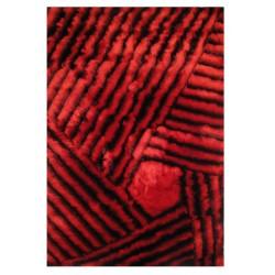 """LA Rug DI-91 Crimson Dimension Shaggy Collection - 5' x 7' 3"""""""