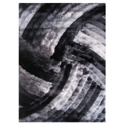 """LA Rug DI-95 Dark Iron Swirl Dimension Shaggy Collection - 5' x 7' 3"""""""