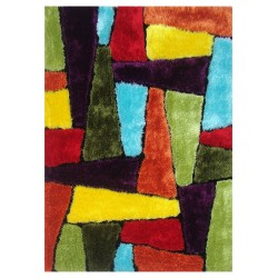 "LA Rug ES-66 Warm Abstract Exotic Collection - 39"" x 58"""