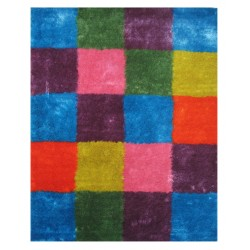 "LA Rug ES-21 Checkers 1 Exotic Collection - 39"" x 58"""