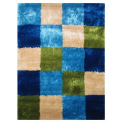 "LA Rug ES-23 Checkers 3 Exotic Collection - 39"" x 58"""