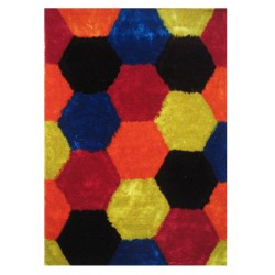 "LA Rug ES-25 Hexagons 2 Exotic Collection - 39"" x 58"""