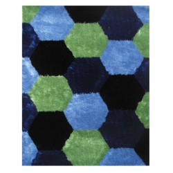 "LA Rug ES-26 Hexagons 3 Exotic Collection - 39"" x 58"""