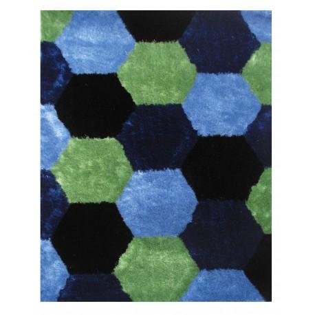 """LA Rug ES-26 Hexagons 3 Exotic Collection - 39"""" x 58"""""""