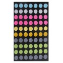 "LA Rug ES-47 Circle Rainbow Exotic Collection - 39"" x 58"""