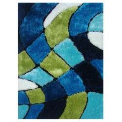 "LA Rug ES-62 Wavy Bricks 4 Exotic Collection - 39"" x 58"""