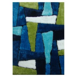 "LA Rug ES-65 Cool Abstract Exotic Collection - 39"" x 58"""