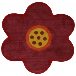 """LA Fun Rugs FTS-021 Pink Poppy Fun Time Shape Collection - 39"""" x 39"""""""