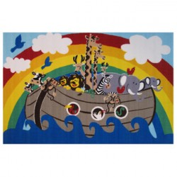 "LA Fun Rugs FT-105 Noah's Ark Fun Time Collection - 31""x47"""