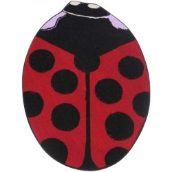 LA Fun Rugs FTS-07 Red Lady Bug Fun Time Shape Collection