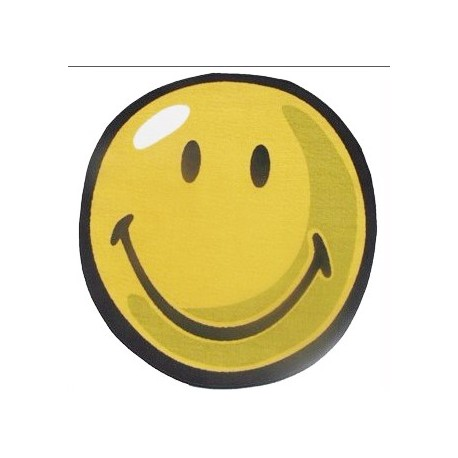 "LA Fun Rugs SW-103 Smiley Round I Smiley World Collection - 39"" RD"